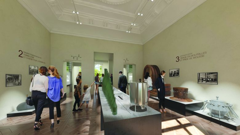 Une salle du futur musée d'Epernay / © Document fourni par la ville d'Épernay