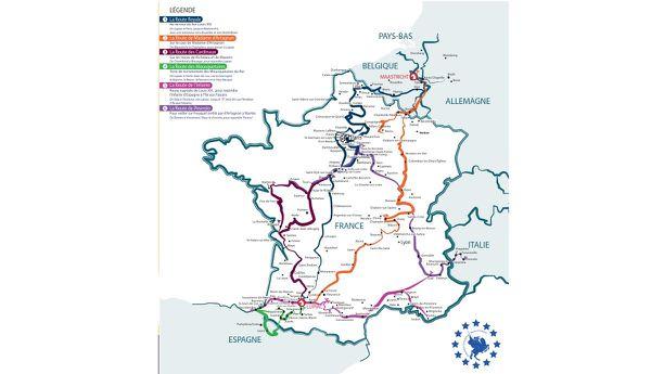 Les six chemins de la Route d'Artagnan.